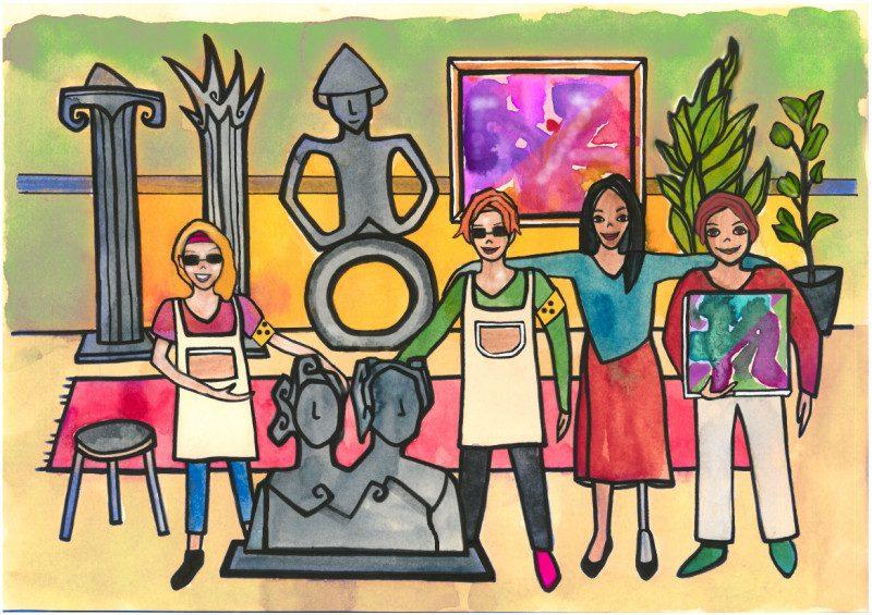 Illustration Atelier Kunst und Bildhauerei