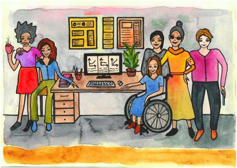 Illustration Office und IT